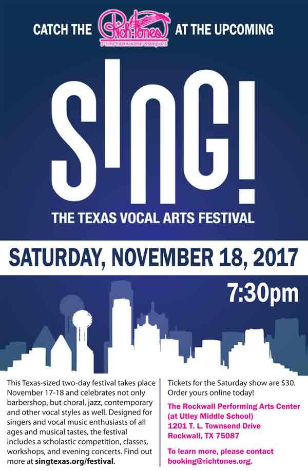 Sing - The Texas Vocal Arts Festival - November 18, 2017